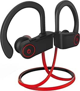 noot products NP11 Wireless Bluetooth Earbuds Headphones with Mic, Volume & Remote Control IPX7 Sweatproof in-Ear for Sports, Running, Gym