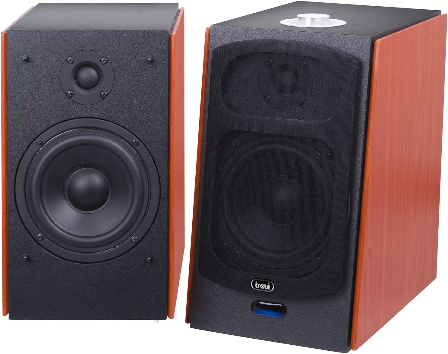 Trevi AVX 590 BT Altavoz 120 W Negro, Madera - Altavoces (De 2 vías, Inalámbrico y alámbrico, 3.5mm/USB/Bluetooth, 120 W, 50-20000 Hz, Negro, Madera)