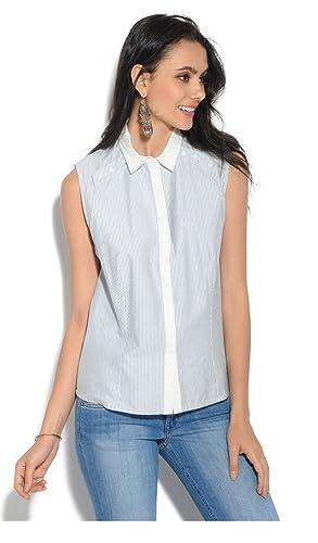 Orfeo Camisa Tina Azul/Blanco Mujer Colección Primavera/Verano