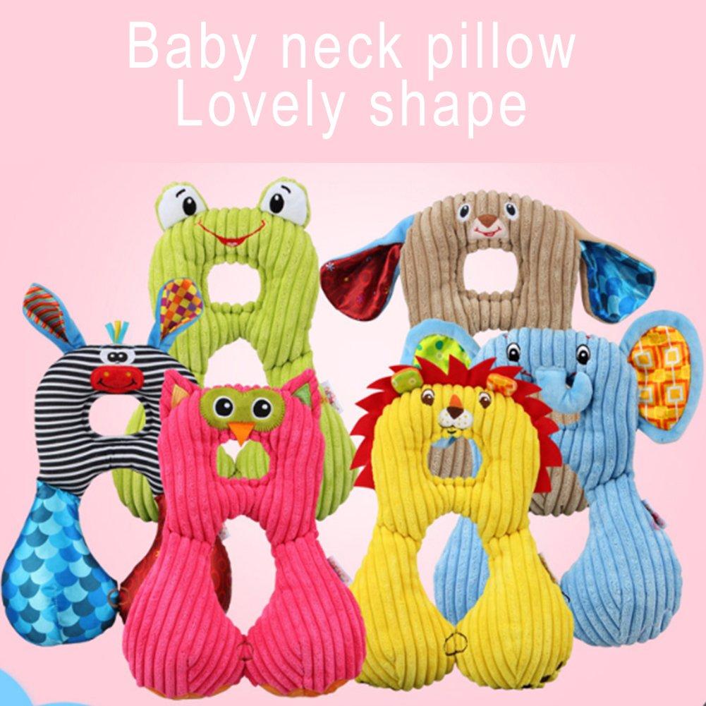 almohada de viaje para beb/é reci/én nacido almohada de apoyo para el cuello Almohada de viaje para beb/é almohada para asiento de coche para proteger la cabeza del beb/é