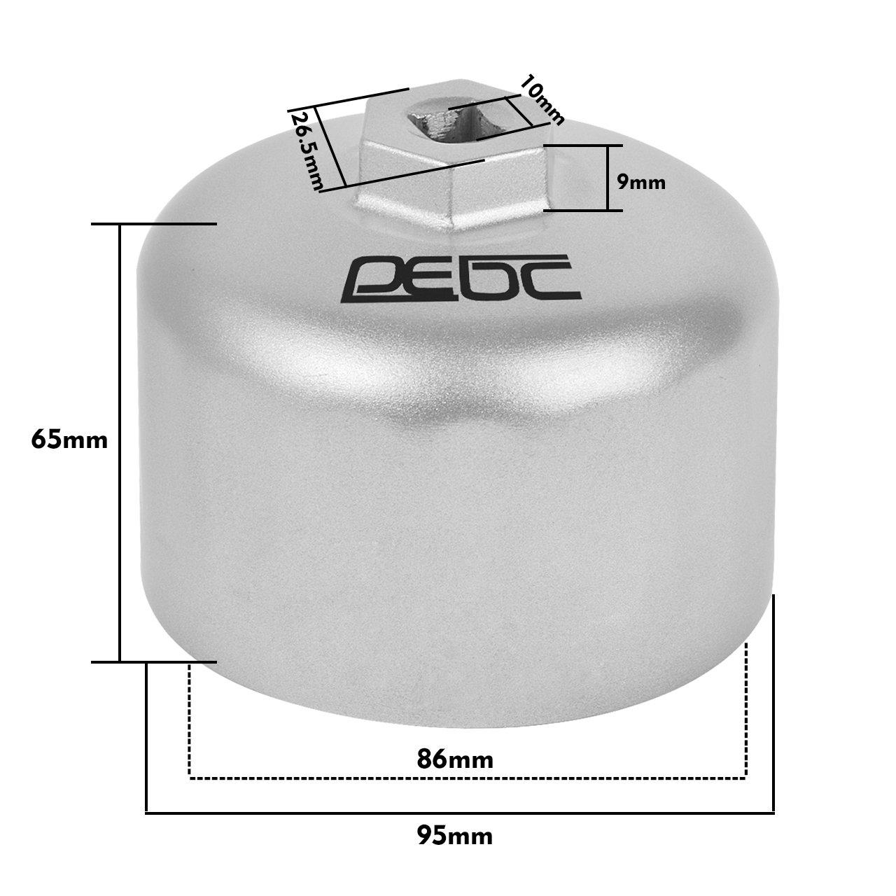 DEDC Llave para Filtro de Aceite Coche 86mm 16 Estr/ías Llave Vaso de Filtro de Aceite