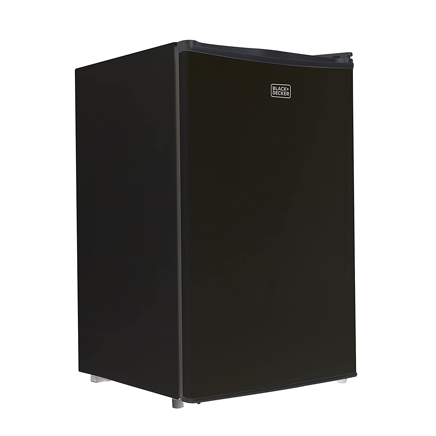 BLACK+DECKER BCRK43B Compact Refrigerator Energy Star Single Door Mini Fridge with Freezer, 4.3 Cubic Ft, Black