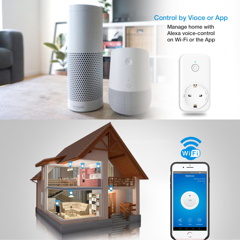 Smart Alexa Steckdose, Intelligente WLAN Plug, Arbeit mit Amazon ...