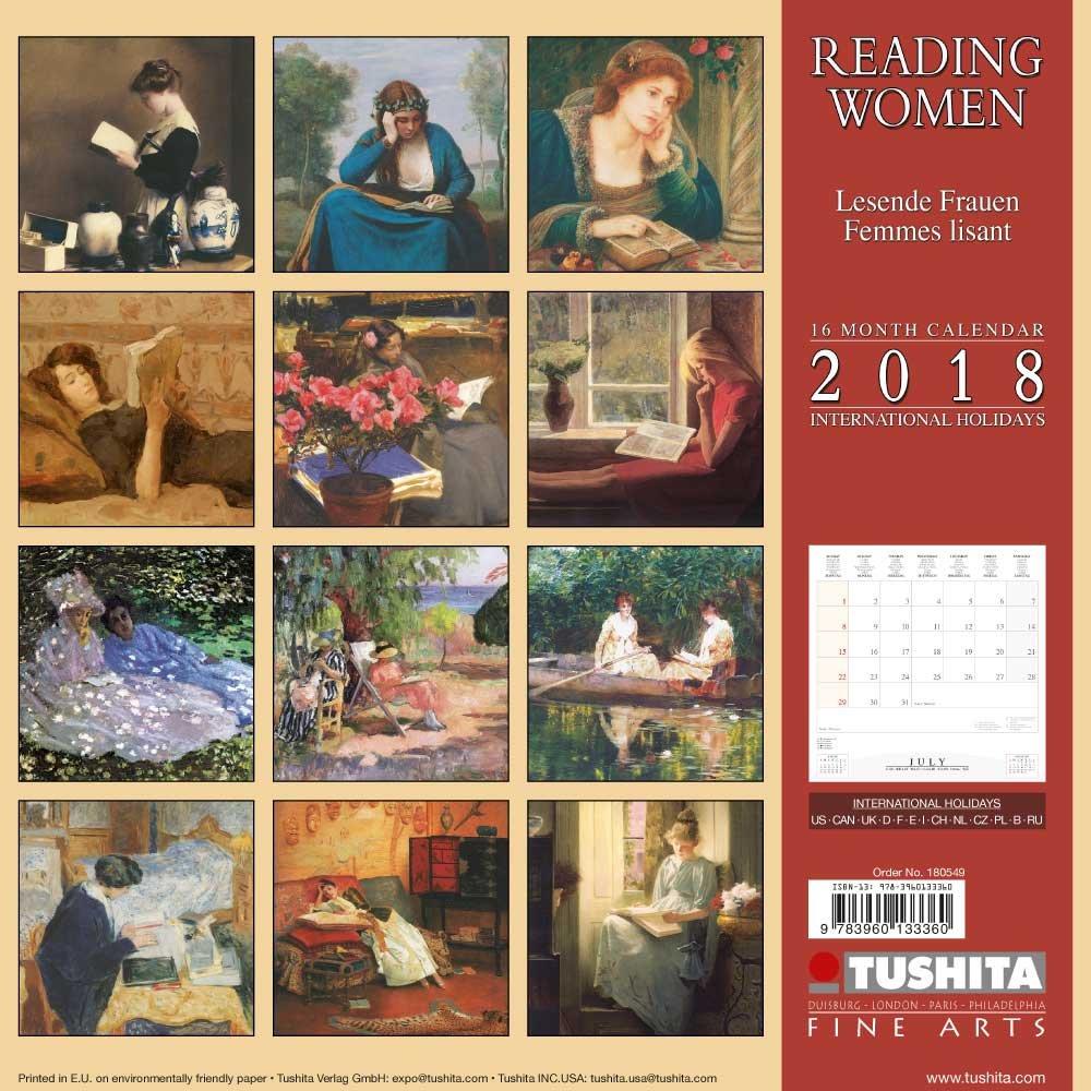 Reading Women 2018: Kalender 2018 (Tushita Fine Arts)