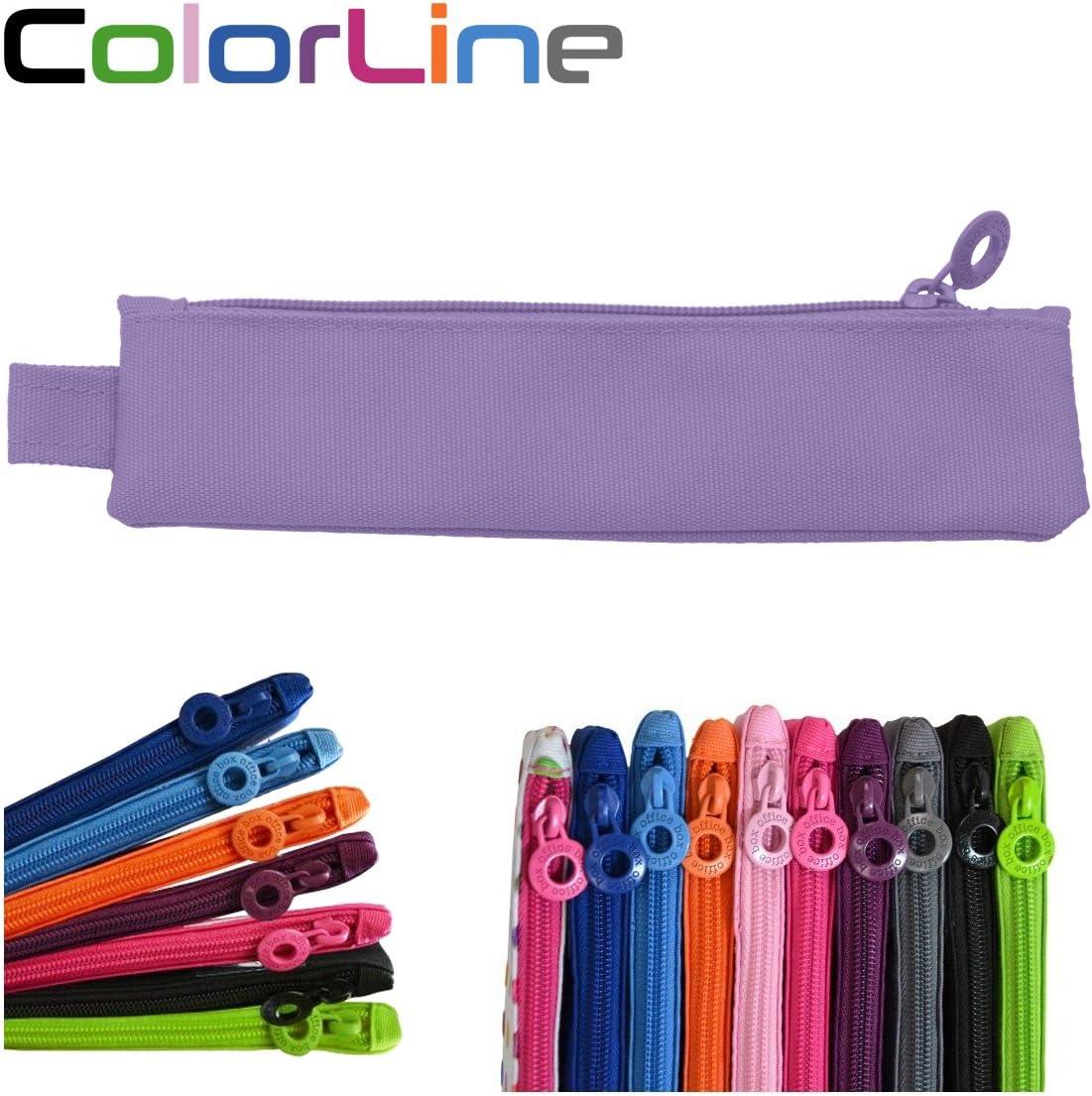 Colorline 59411 - Portatodo Mini, Estuche Multiuso para Viaje, Material Escolar, Neceser y Pequeños Objetos, Color Lila, Medidas 20 cm x 5 cm: Amazon.es: Oficina y papelería