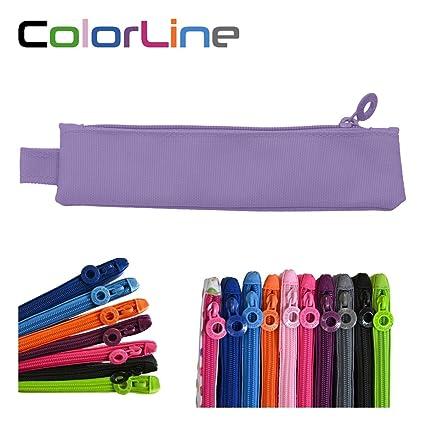 Colorline 59411 - Portatodo Mini, Estuche Multiuso para Viaje, Material Escolar, Neceser y Pequeños Objetos, Color Lila, Medidas 20 cm x 5 cm