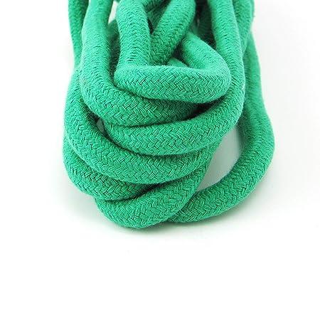 Grouptap Corde à Sauter en Coton Doux de Couleur Gymnastique Rythmique 3M (3  mètres) pour Enfants et entraînement de Gymnastique (Vert)  Amazon.fr   Sports ... e6d55b84a11