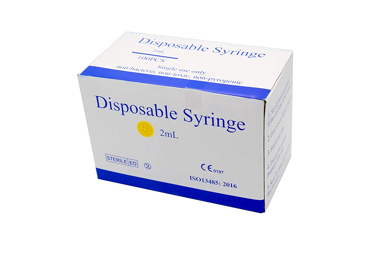 2ml-100Pcs 2ml//cc 23G Disposable Sterile Packaging