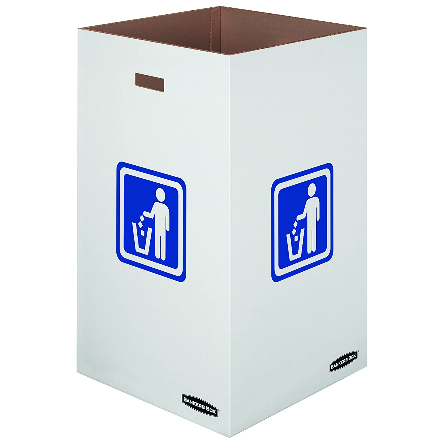 42 Gallon 7320101 10 Each Bankers Box Medium Corrugated Cardboard Trash and Recycling Containers