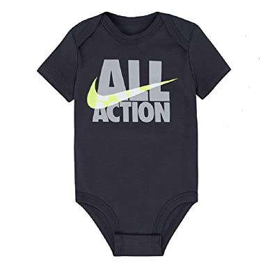 Nike Baby Boy Clothes Delectable Amazon Nike Baby Boys' All Action Graphic Bodysuit Grey 60