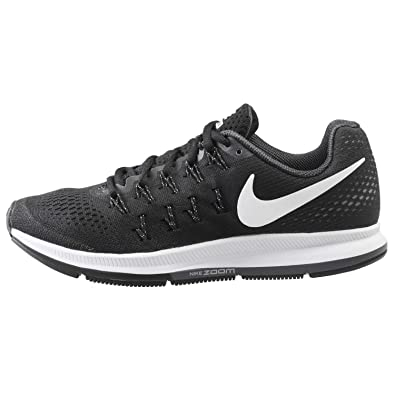 buy popular 96e83 f80c9 Nike Women s Air Zoom Pegasus 33 Black White Anthracite CL Grey Running Shoe