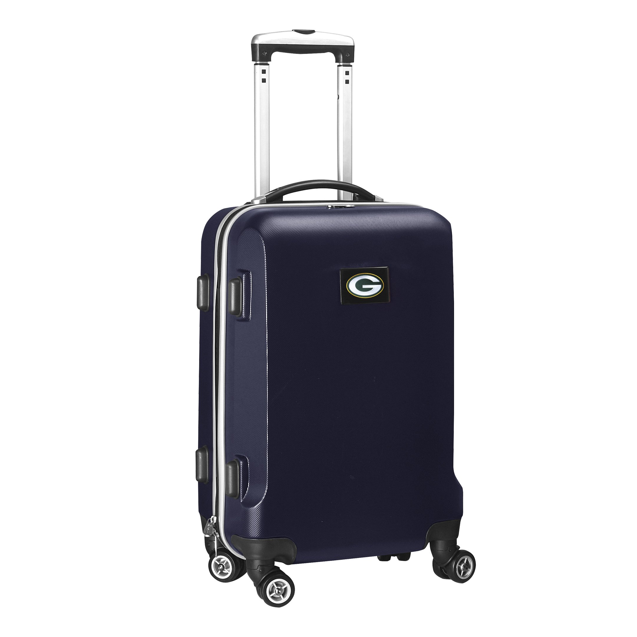 Denco NFL Green Bay Packers Carry-On Hardcase Luggage Spinner, Navy by Denco (Image #2)