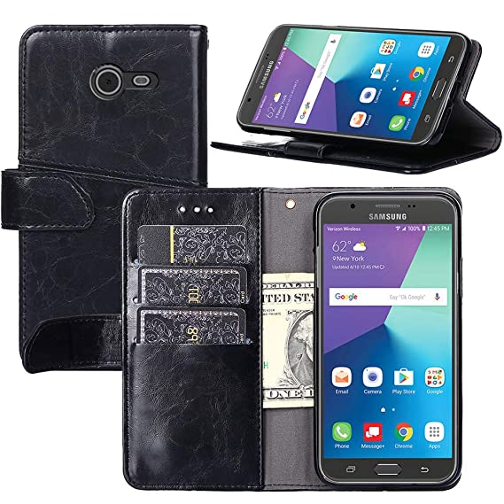 the latest 5c9b8 8d3c3 Galaxy J5 2017 Case,Galaxy J5 Pro Case,YEEGG Flip Cover Leather, Phone  Wallet Case for Samsung Galaxy J5 Pro 2017 (Black)