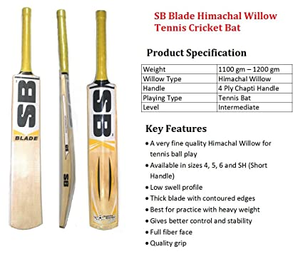 Sb Blade Himachal Willow Cricket Bat Size Sh Amazon In Sports Fitness Outdoors