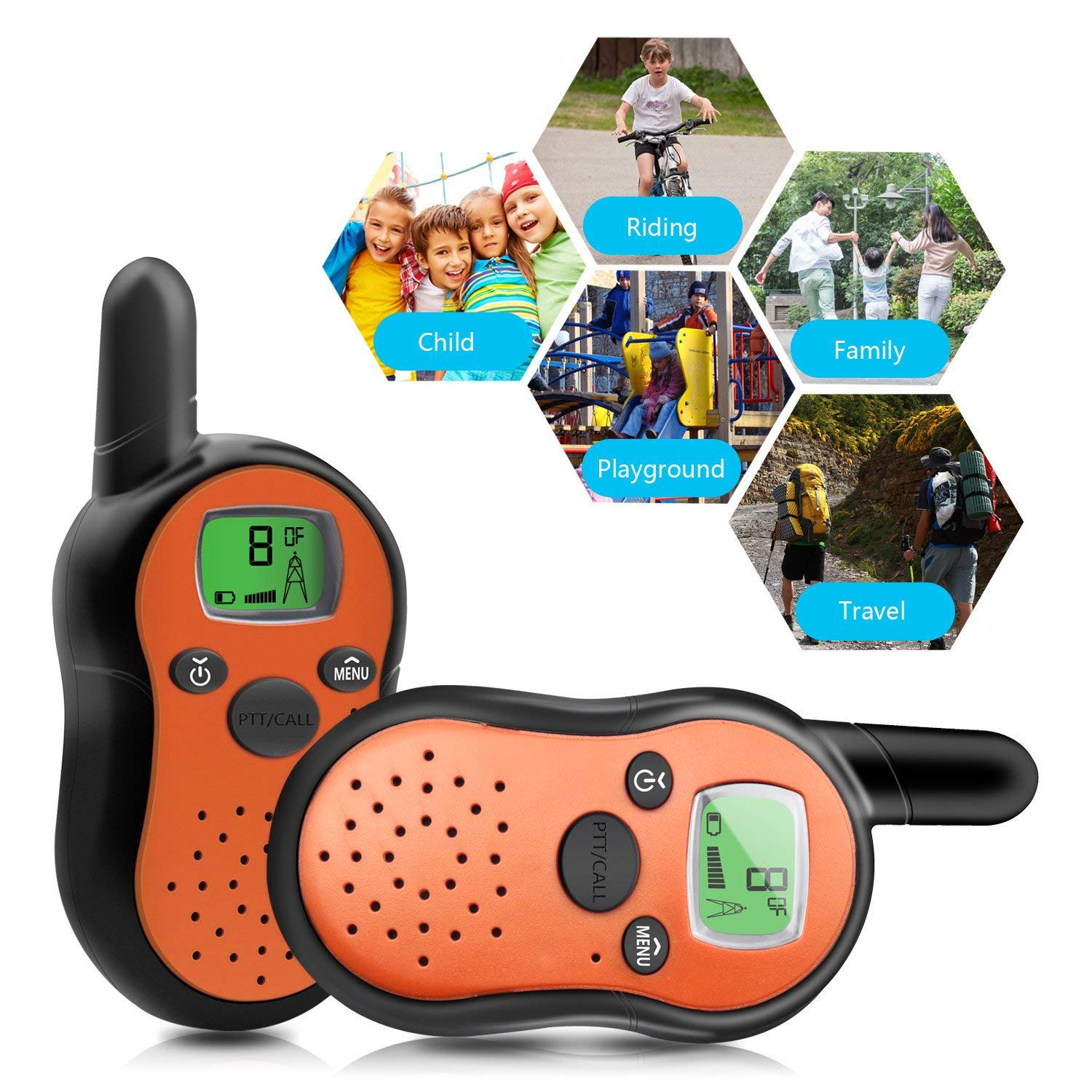 TiMi Tree Walkie Talkies for Kids Toddlers Two Way Radios Toy Voice Activated Long Range, Outdoor Exploration Gifts for Age 5 6 7 Year Old Boys Girls by TiMi Tree (Image #5)