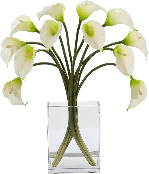 Nearly Natural Mini Calla Lily Silk Flower Arrangement