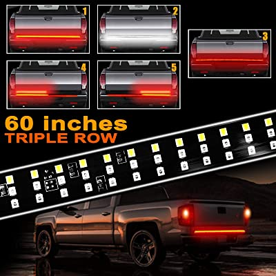 60 Inches Truck Tailgate Light Bar, LINKSTYLE Triple 504 LED Light Strip Running Turn Signal Brake Reverse Tail Lights for Pickup Trailer SUV RV VAN Jeep Car: Automotive