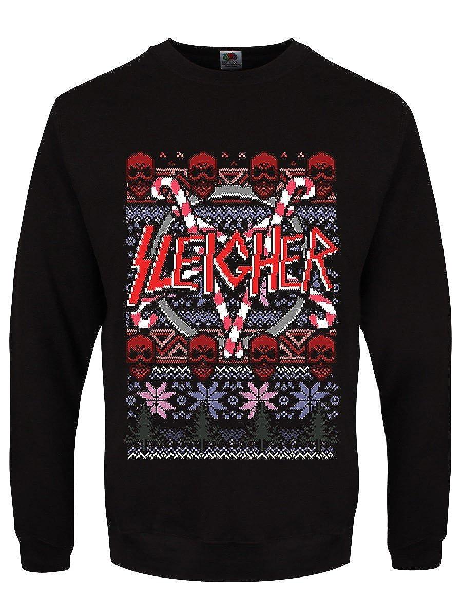 Grindstore Men's Sleigher Black Christmas Sweater