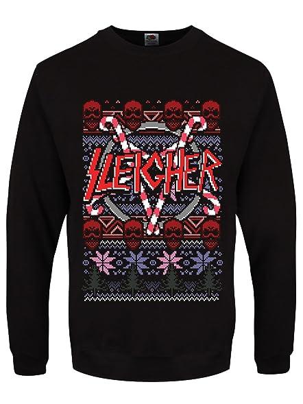 men39s sleigher black christmas sweater - Black Christmas Sweater