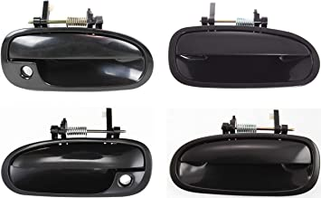 Outside Door Handle For 1996-2000 Honda Civic Smooth Black Front Left