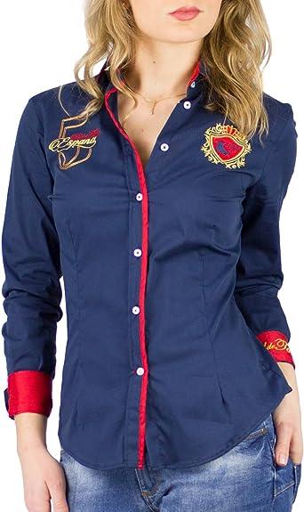 Piel de Toro 42146501 Camisa, Azul (Azul Marino 01), Medium (Tamaño del Fabricante:M) para Mujer: Amazon.es: Ropa y accesorios