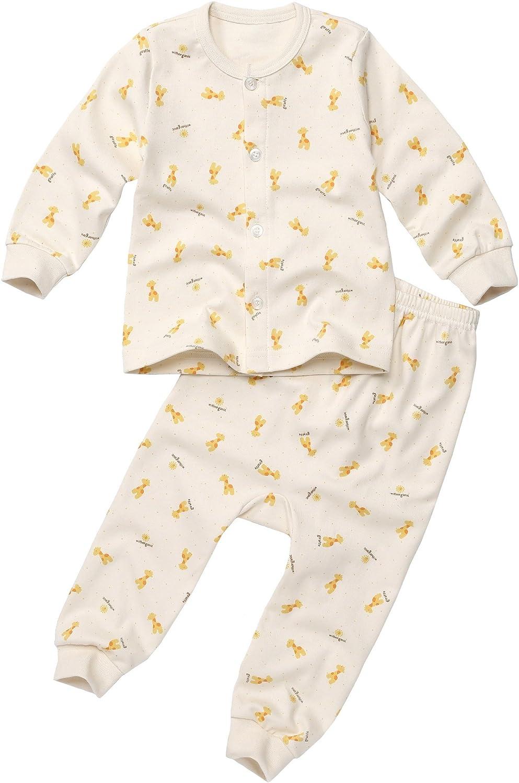 100/% Organic Cotton Baby 2piece Buttondown Pajama Set