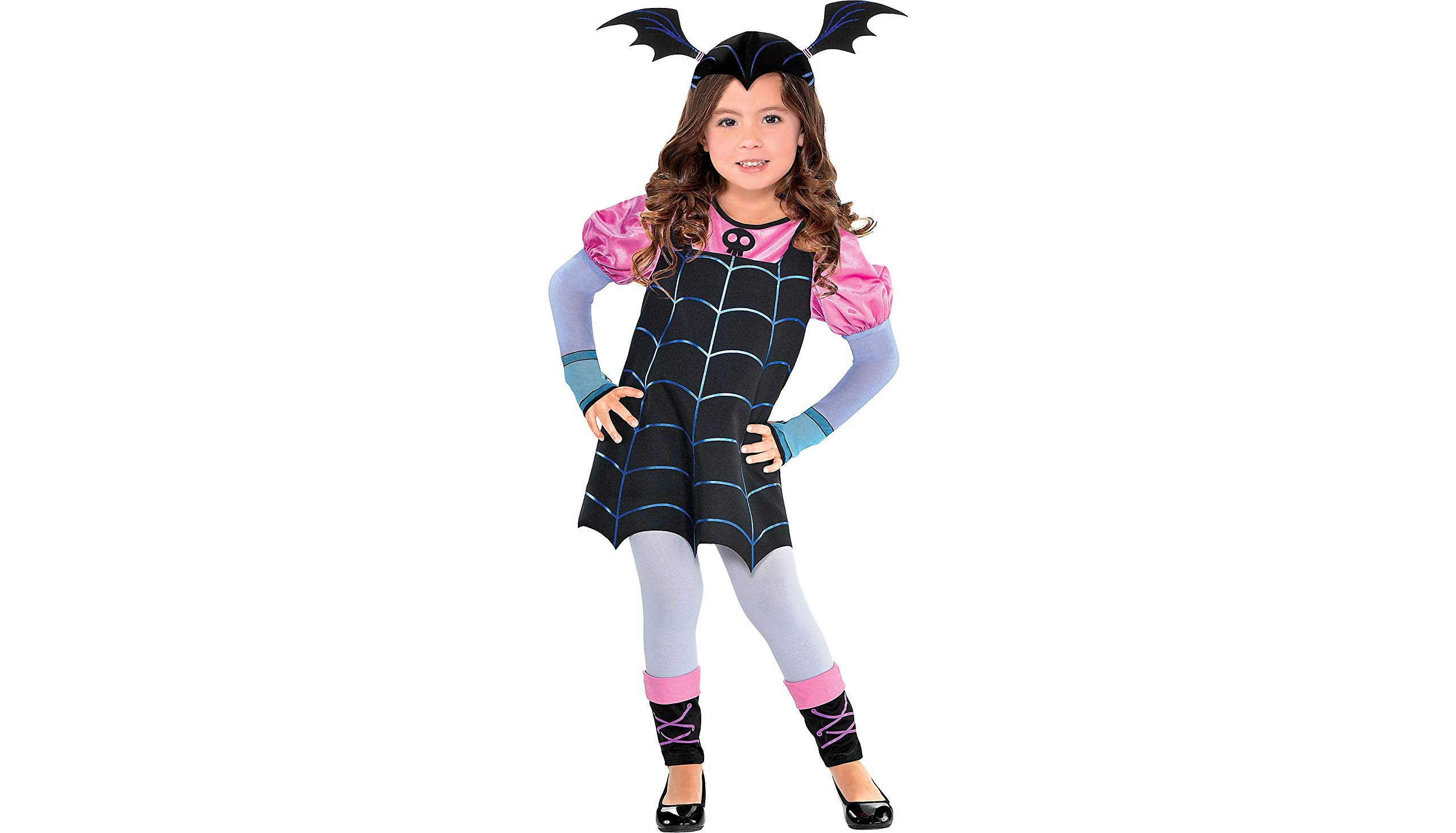 - 71wSyR0h4cL - Vampirina Vee Costume for Toddler Girls, 3-4T, with Accessories