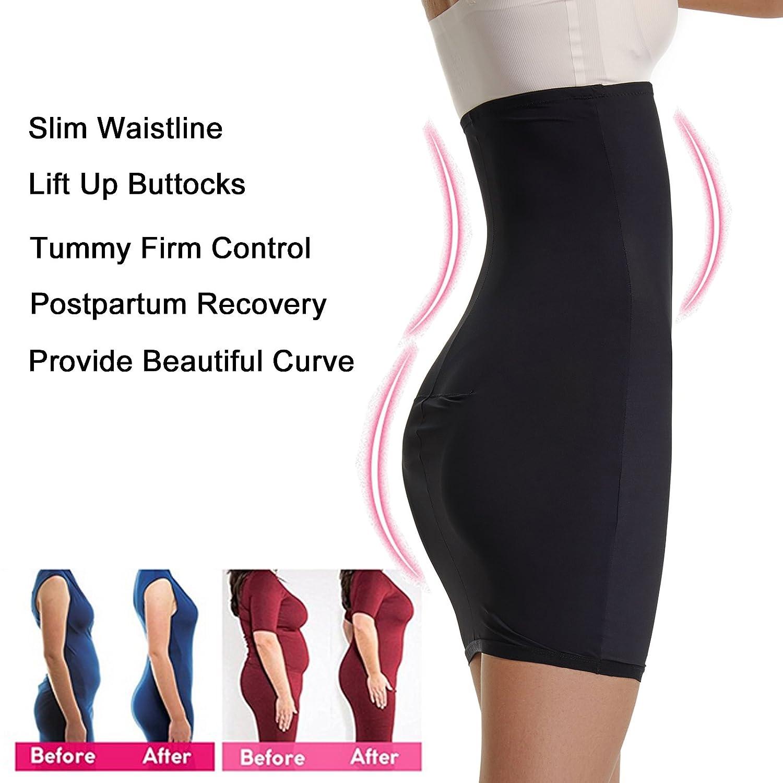 feff00925f Joyshaper Half Slips Shapewear for Women High Waisted Tummy Control Skirt  Slimming Shaping Waist Cincher Trimmer ...