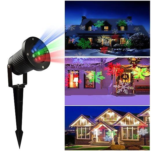 LED de Navidad proyector de luz de giro de varios colores de los ...