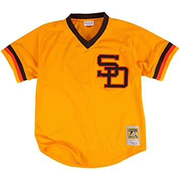 new products 1e48f 8c59f Mitchell & Ness Tony Gwynn San Diego Padres Authentic Mesh Batting Practice  Jersey