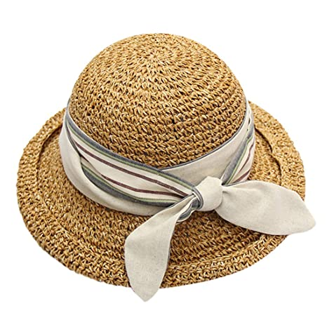 Sombrero Paja de Mujer, MINXINWY Sombrero Niña Gorro Vacaciones en ...