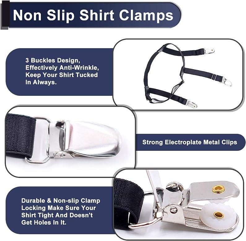 2 piezas Shirt Stays, Elasticos Tirantes para Camisas Hombre y ...