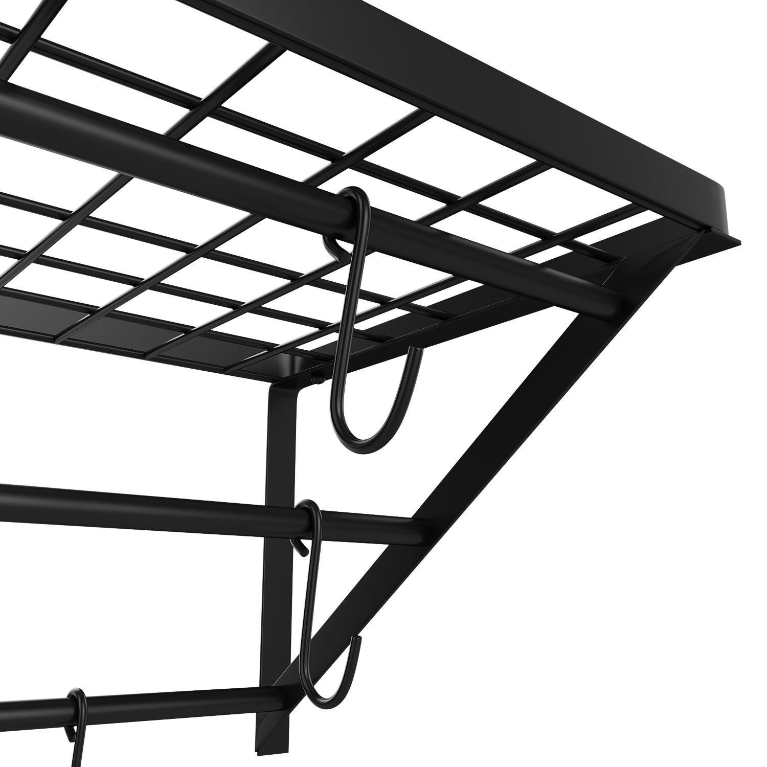Utheing Kitchen Wall Mount Pot Storage Rack Pans Organizer Hanger with 10 Hook for Kitchen Cookware, Utensils, Pans and Books by Utheing (Image #6)