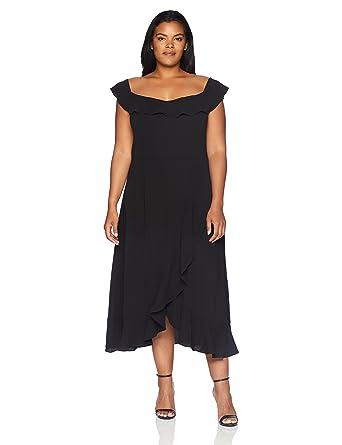 City Chic Womens Apparel Plus Size Dress Wrap Ruffle At Amazon