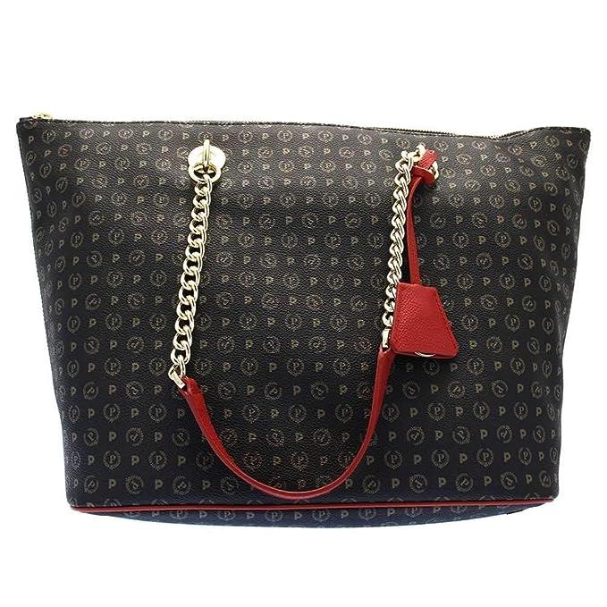 190cd7997 BORSA DONNA POLLINI SHOPPING BAG TAPIRO NERO/ROSSO TE8410 216: Amazon.it:  Abbigliamento
