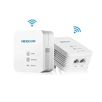 amazon com hexicom av 200 mbps powerline ethernet adapters (bothamazon com hexicom av 200 mbps powerline ethernet adapters (both with wifi support) kit homeplug bridge plc 2 lan ports(hm200w hs200w) computers \u0026