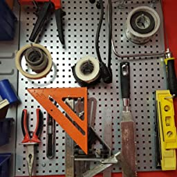 S01102 Siegen 34Pc Metal Wall Storage Tool Pegboard Holder With Hooks /& Boxes