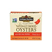 Crown Prince Naturally Smoked Oysters with Red Chilli Pepper 3 oz