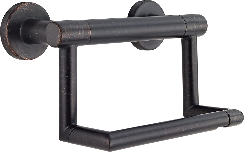 DELTA FAUCET 41550-RB Contemporary Tissue Holder/Assist Bar, Venetian Bronze, 2.00 x 4.75 x 6.00 inches