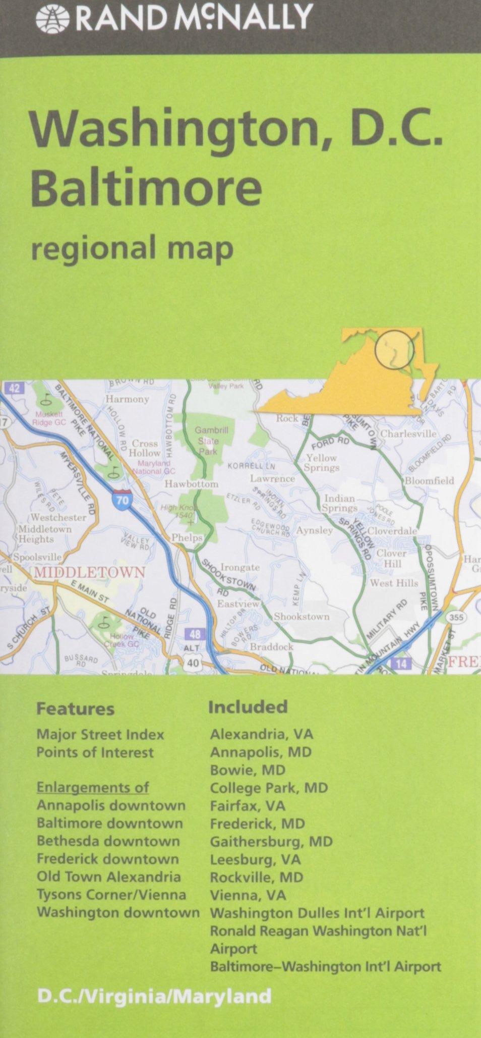 Rand McNally Folded Map Washington product image