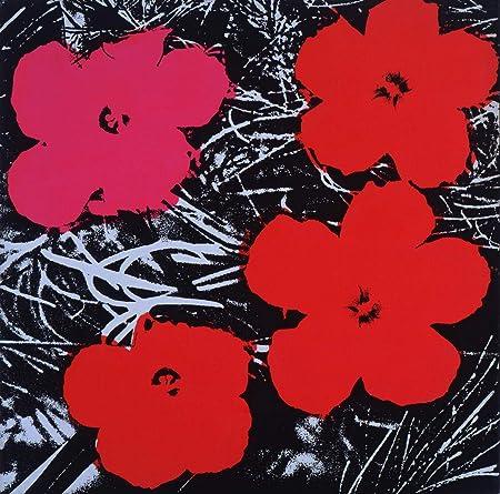 Fiori Warhol.Berkin Arts Andy Warhol Giclee Tela Stampa La Pittura Poster