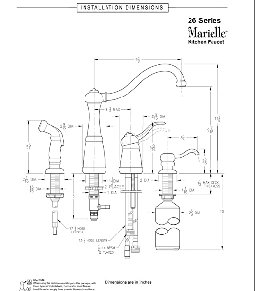 Pfister Gt26 4nuu Marielle Single Handle Kitchen Faucet With Side