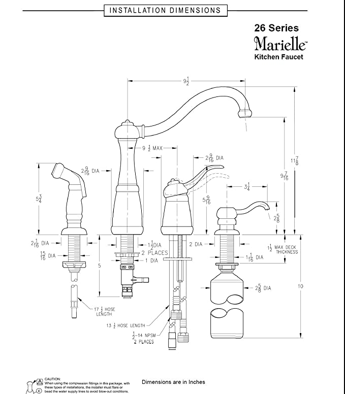 Pfister F0264nss Marielle 1 Handle Kitchen Faucet With Side Spray