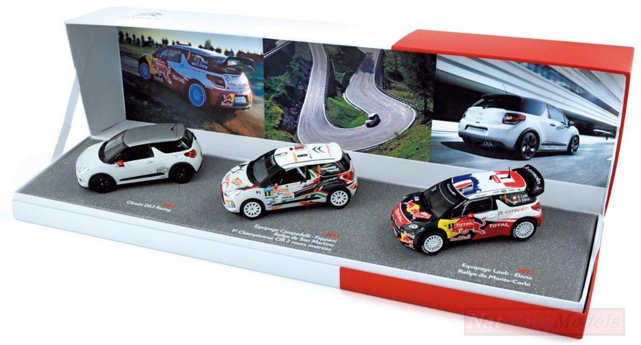 NOREV NV155354 COFFRET Citroen DS3 Racing+DS3 R3+ DS3 WRC Monte Carlo 2012 1:43