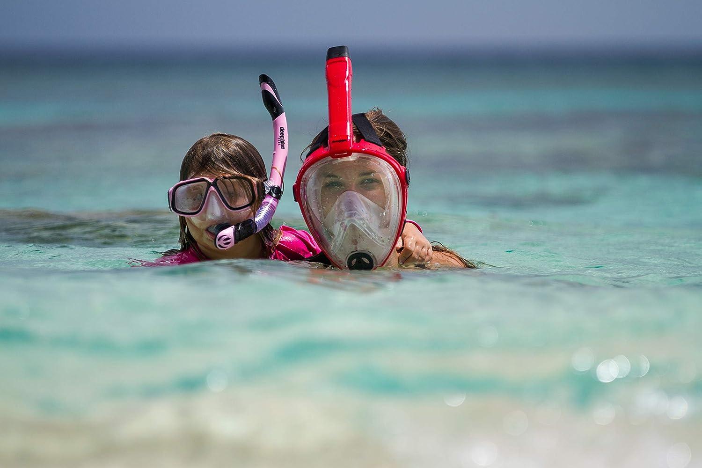 Deep Blue Gear Máscara de Snorkel de Cara Completa Vista Vue ...
