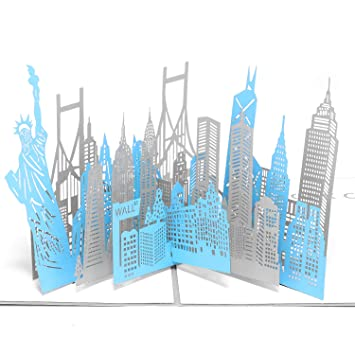 Paper Spiritz New York Card 3D Pop Up Birthday Greeting Cards Christmas Anniversary Wedding