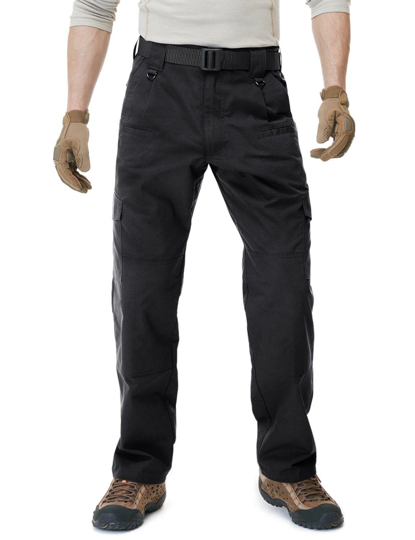 CQR CLSL CQ-TLP104-BLK_32W/32L Men's Tactical Pants Lightweight EDC Assault Cargo TLP104 by CQR (Image #5)
