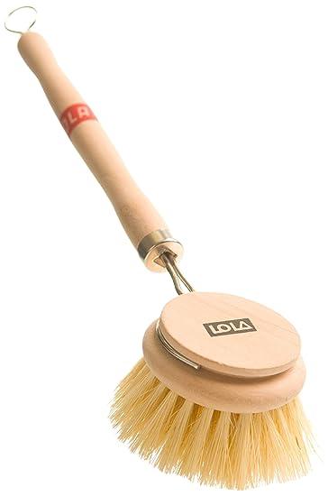 Lola Large Tampico Bristle Wood Vegetable And Dish Brush