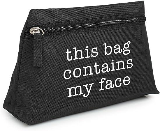 Minga London Este bolso contiene mi cara maquillaje bolsa estuche neceser organizador bolso Tumblr: Amazon.es: Hogar