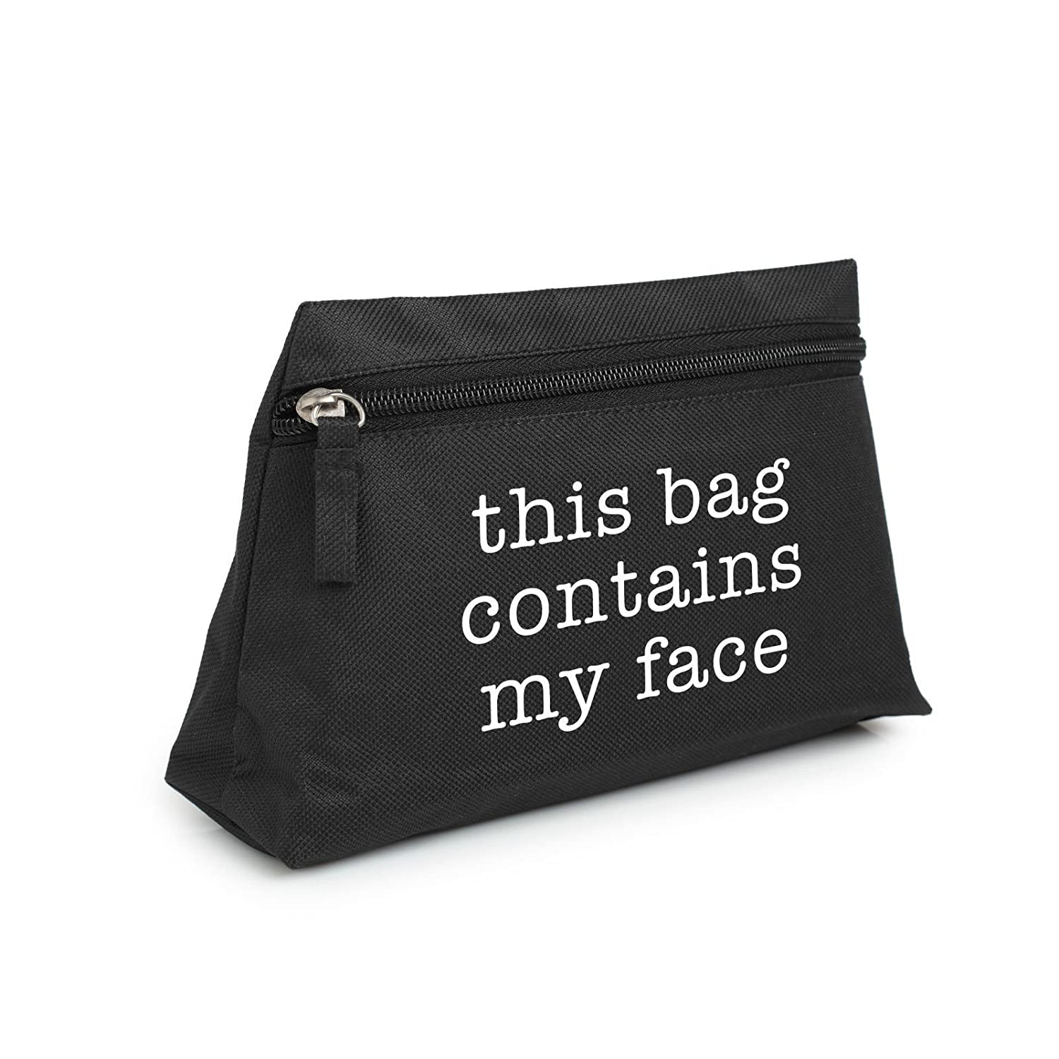 Minga London This Bag Contains My Face Makeup Bag Pencil Case Toiletry Organizer Purse Tumblr
